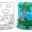 Постер, плакат: Little crocodile coloring book