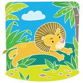 Little lion — Stock Vector