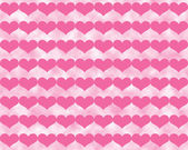 Dark Pink Valentine Hearts on Cloudy Light Pink Background — Stockfoto