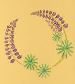 Circle frame from lupines. — Stock Photo