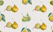 Seamless background with pears. — Stock Photo
