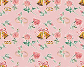 Wedding seamless pink. Pattern from roses. — Stock Photo