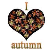 Miluji podzim. podzimní kolekce. — Stock fotografie