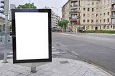 Billboard on street — Stock Photo