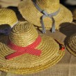 Basketwork hats — Stock Photo