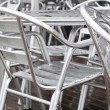 Chairs aluminum — Stock Photo #38384671