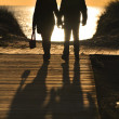 Couple walking in beach — Stock Photo #38385083