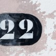 Stock Photo: House with number twenty-two
