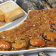 Stock Photo: Shellfish moussels stew