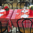 Stock Photo: Table terrace restaurant