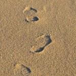 Human footprints — Stock Photo