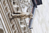 Gothic gargoyle of a goat — Stock Photo