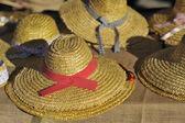 Basketwork hats — Stock Photo