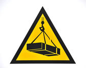 Poster suspended loads danger, horizontal — Stock Photo