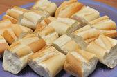 Baguette slices bread — Stock Photo