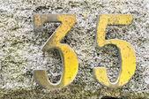 Address on granite background — Stock Photo