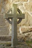 Granite Celtic cross — Stock Photo