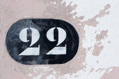 House with the number twenty-two — Stock Photo