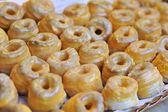 Flaky glazed donuts — Foto Stock