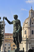 Statues of Roman emperors — Stock Photo