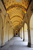 Arched hallway of Museum in Lyon — Stock Photo