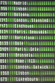 Panel flights information board — Stock Photo