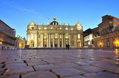 Main facade of the Basilica of Saint Peter's in the Vatican City — Foto Stock