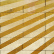 Painted wall of bricks with diagonal — Stock Photo