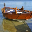 Stock Photo: Wooden boat in the beach