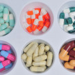 Colorful pills and capsules — Stock Photo #38498007