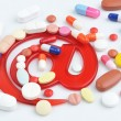 Pills with email symbol — Stock Photo #38498441