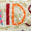 Word AIDS and drugs made — Stock Photo #38499859