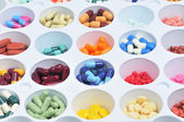 Colorful pills and capsules — Stock Photo