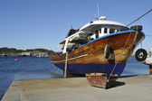 Wooden fishing boat in Galicia, spain — Stock Photo
