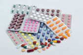 Pills and capsules in blister — Stock Photo