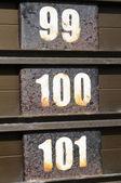 Série decrescente de números consecutivos — Fotografia Stock