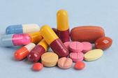 Assortment of pills and capsules — Stock Photo