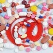 Pills with email symbol — Stock Photo #38500523