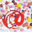 Pills with email symbol — Stock Photo #38500911