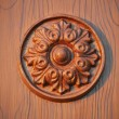 Wood joinery flower in circle work — Stock Photo #38500961