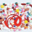 Pills with email symbol — Stock Photo #38501075