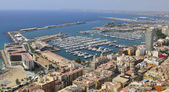 Aerial view of Alicante city — Stockfoto