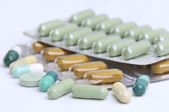 Assortment of pills and capsules — Stock Photo