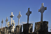Crosses and Symbols in Christian cemetery — Stock Photo