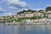 Landscape rural coastal rias baixas — Stock Photo