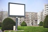Cityscape blank billboard — Foto Stock