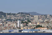Overview of Vigo — Stockfoto