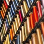 Silk thread spools — Stock Photo