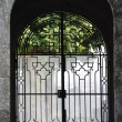 Barred door with arch — Stock Photo