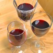 Stock Photo: Red wines in crystal glasses